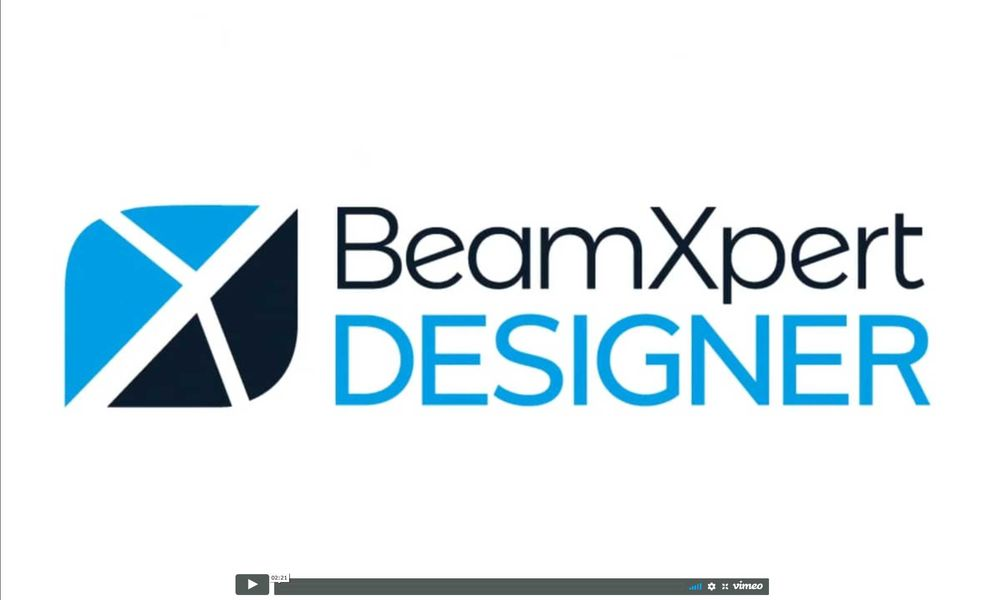 Product video BeamXpertDESIGNER - an overview in 10 min: learn quickly, work intuitively, 3D CAD-like, real-time simulation and component database